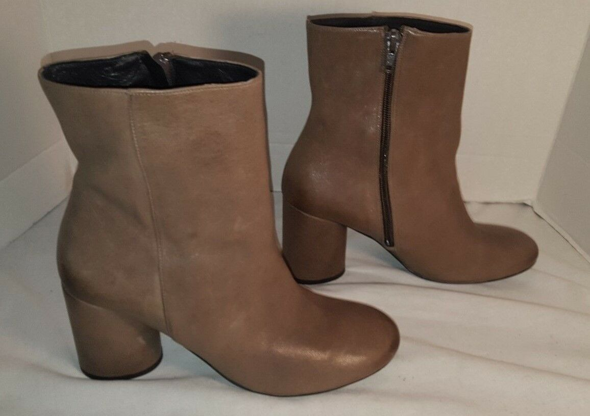 NEW FREE FREE FREE PEOPLE WOMEN'S LOTUS GREY LEATHER BOOTS US 9 EUR 39 dbac5c