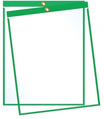 9/'x12/' green Job Ticket Holders Top-loading With Eyelet For Pack Of 30