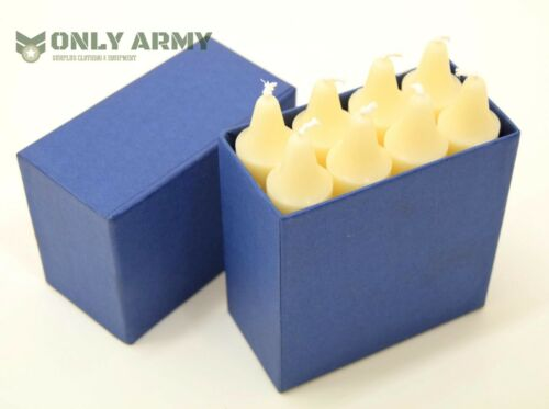 Pack of 8 Vintage Swiss Army Candles For Lanterns Original Military Surplus