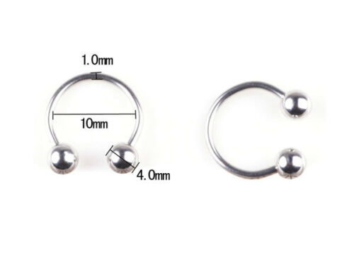 5pcs//lot Silver Stainless Steel Eyebrow Navel Belly Lip Tongue Nose Piercing