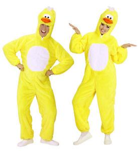 super popular ecd7b c9797 Dettagli su WIDMANN Costume vestito papera pulcino animali uomo donna  adulto mod. 9711_
