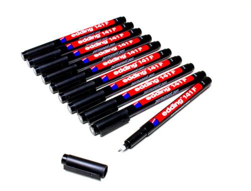 schwarz permanent 0,6 mm 141F-001 10 x Edding 141 F OHP-Marker