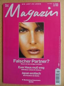 DAS-MAGAZIN-Maerz-3-2000-Schloss-Rattey-Japan-erotisch-Lisboa-Raubueberfall