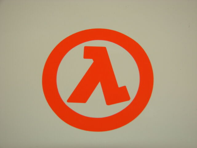 Half Life Logo Vinyl Decal Sticker Half Life 2 Orange Ebay