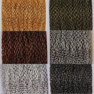 Lots 2//10M Cable Open Link Iron Metal Chains Craft Jewelry Making DIY 0.7x3x2MM