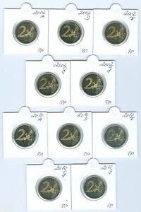 "Rfa 2 euros ""AIGLE"" 2002 - 2006, 2008, 2010 et 2011 ADFGJ pp 40 pièces!"
