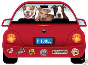 Pitbull Pupmobile car magnet