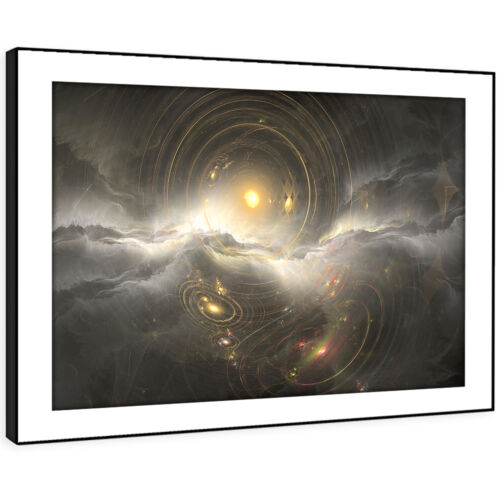 AB1337 Black Yellow Grey Modern Abstract Framed Wall Art Large Picture Prints