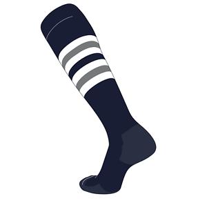 Royal DK GRIS Tck Béisbol Fútbol Elite Calcetines Hasta la Rodilla a Rayas F de color blanco