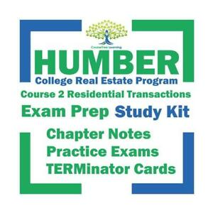 Humber Real Estate Course 2 Residential Real Estate Transaction Study Notes, Practice Exam Questions Exam Prep Kit Ontario Preview