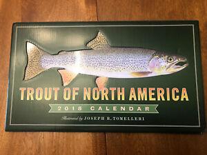 2018 Trout Of North America Wall Calendar 14 X 8 25 By Joseph R Tomelleri Ebay