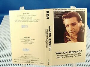 WAYLON JENNINGS - Heartaches By The Number - EXCELLENT CONDITION CASSETTE Canada