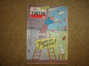 1956-Tintin-Journal-with-Herge-front-page-illustration