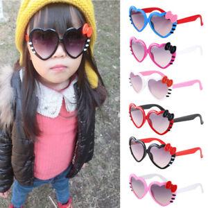 f05f7c702a6 Little Girls Anti-UV Sunglasses Glasses Cute Heart Bow-knot Style ...