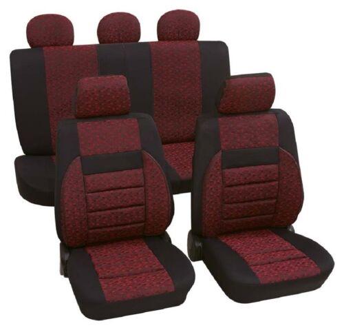 Relax rot Schonbezug VW Polo 9N Autositzbezug Jacquard gewebt