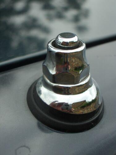 Chrome Power Antenna Top Nut Fender Bezel Classic MG Jaguar Triumph BMW Mercedes