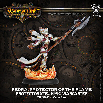 Warmachine BNIB Menoth - Protectorate Epic Feora - Protector of the Flame