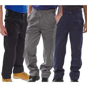 Click-Heavyweight-Polycotton-Drivers-Cargo-Work-Trousers-Pants-Knee-Pad-Pockets