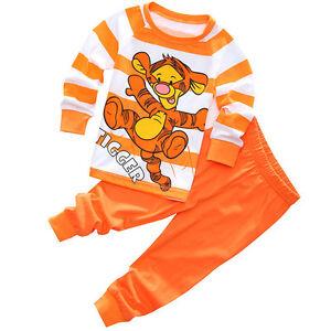84634eb977c1 Winnie the Pooh Tigger Pajama Set Kids Baby Boys Girls Clothes ...