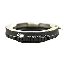 Adaptateur Bague Objectif Leica M vers Boitier Micro 4/3 Olympus Panasonic