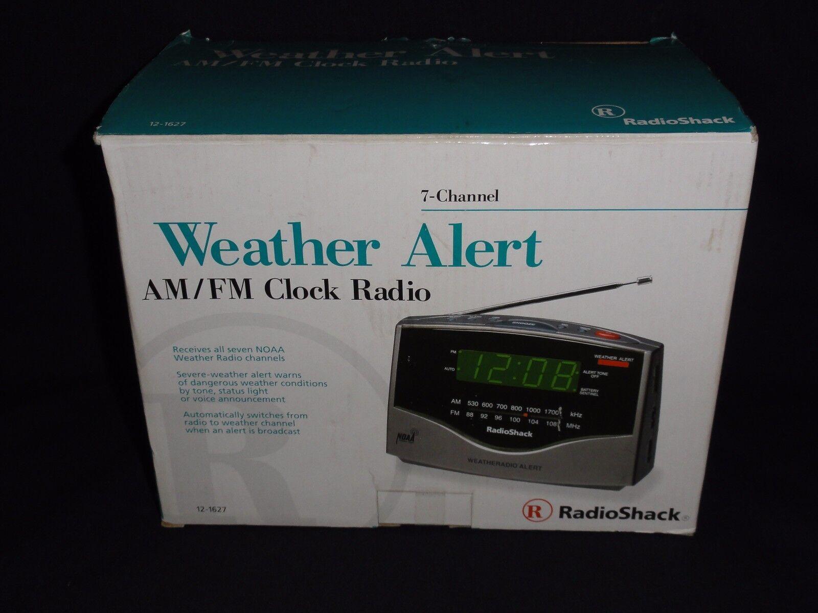 Radio Shack - Weather Alert AM FM Clock Radio 7-Channel