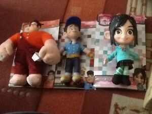Ensemble de 3 jouets Mondo Wreck's Wreck It Ralph en peluche Buddy Venellope Felix