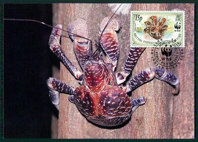British Territory Mk 1993 Fauna Palmendieb Krabbe Coconut Crab Maximumkarte En55