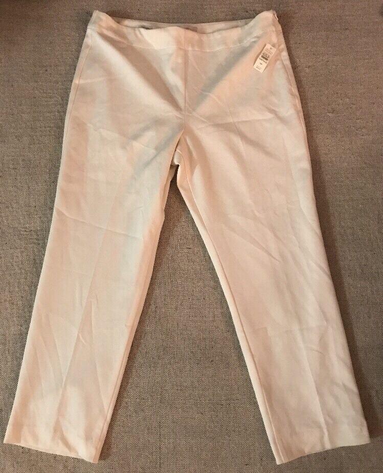 Talbots Petites Women's Heritage Size 16P Cream Dress Pants NEW MSRP  69  B8