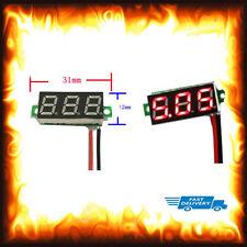 Verde 0-30V DC 2 Cable De Pantalla LED Panel Voltímetro Digital de Voltaje Motor Auto Moto