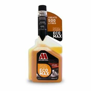 New-Improved-Millers-Oils-Diesel-Power-Ecomax-Fuel-Treatment-Additive-500ml