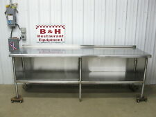 8 X 30 Stainless Steel Heavy Duty Kitchen Cabinet Work Prep Table 96 X 2 6