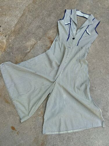 Antique 1930s Beach Pajamas Jumpsuit Playsuit Open