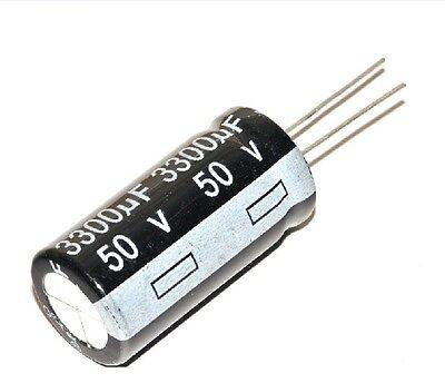 5 pcs Nouveau Électrolytique Condensateurs 50v/3300uf 18x35mm DIY A+ nouvelle fr