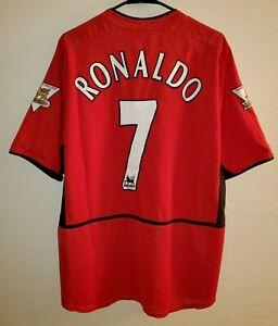 edb82112630 Nike Manchester United Ronaldo 03 04 Home Jersey   Shirt - (Size L ...