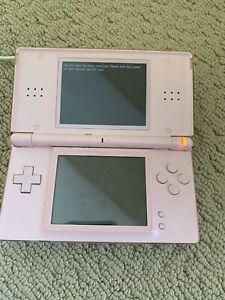 Nintendo-DS-Lite-Pink-Handheld-Console-With-Charger