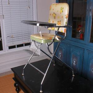 Rare Vintage Mid Century Cosco Steel High Chair Kid Baby