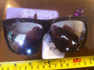 7833be2e6ab Claire s Claires Shades Glasses SunGlasses Black Large Reflective £7 ...