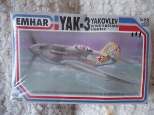 EMHAR Collectible YAK-3 RUSSIAN FIGHTER  – 1:72IN FACTORY SEALED BOX