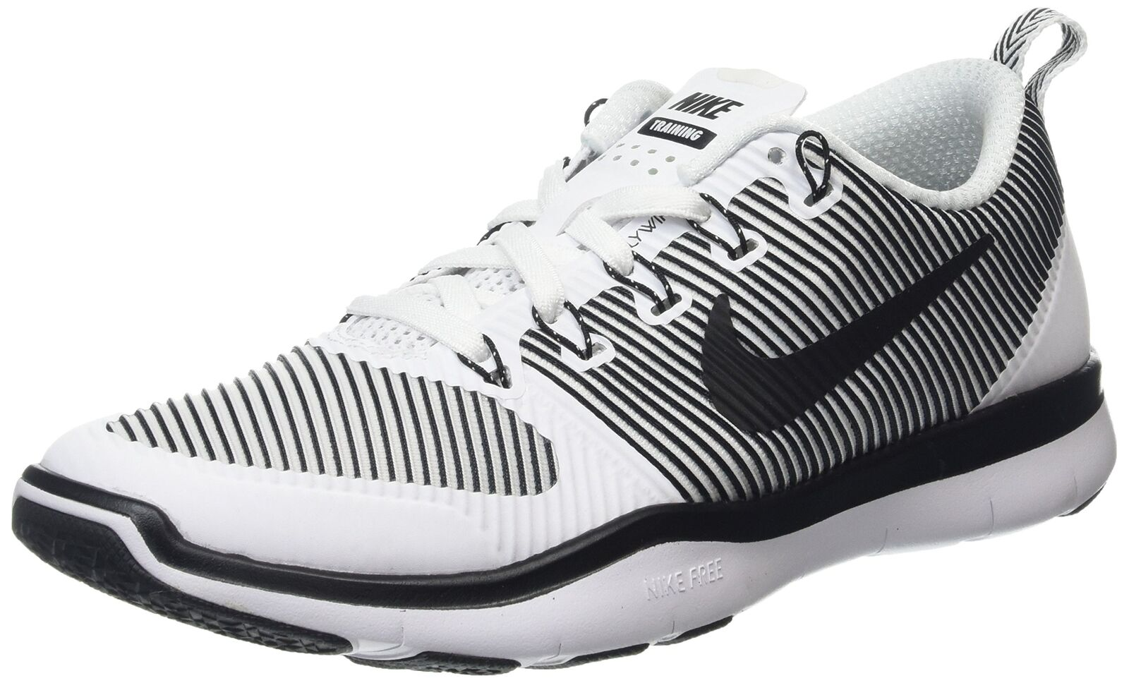 NIKE Men's Free Train Versatility Running Shoes White/Black 8.5 DPrice reduction US  Wild casual shoes