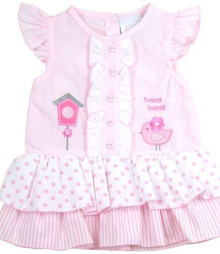 BabyPrem Baby Mädchen Kleider Kleider 3 Stück Set Kleid Stirnband /& Hose 9-23m
