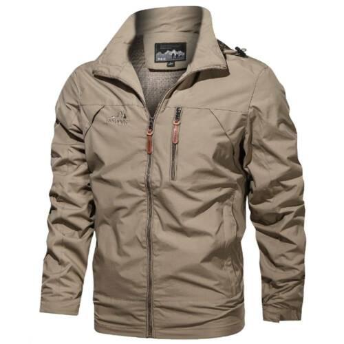 Men/'s Winter Zip Coat Tactical Military Windbreaker Combat Outdoor Casual Jacket