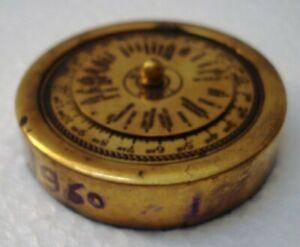 MARINE-Pocket-WORLD-TIMER-Brass-Little-amp-Very-Nice-1960