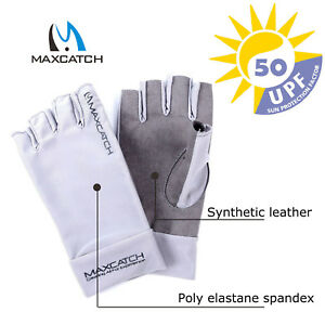 UV-Protection-Sports-Gloves-L-XL-Fingerless-Woman-Man-Outdoor-Fly-Fishing