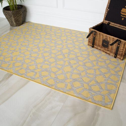 Nouveau bon marché jaune ocre Flatweave intérieur//extérieur énorme Big Grand Salon Tapis
