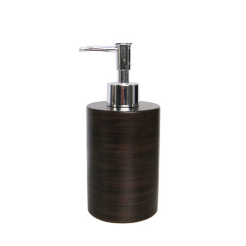 Badserie ETNIC Dekorativer Brauner Seifenspender Pumpspender aus Keramik