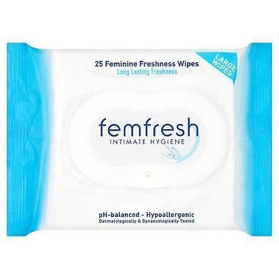 Femfresh Intimate Hygiene Feminine Fresh Wipes 25pk
