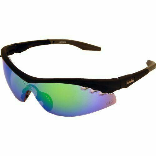 Ironman Triumph Semi-Rimless Sunglasses,Matte Black Rubberized,MULTI LENS