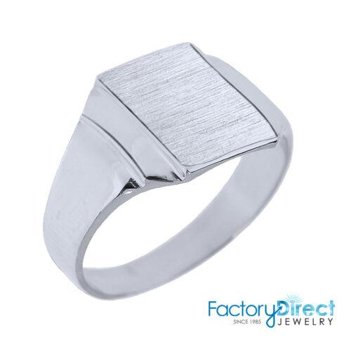 Engravable Sterling Silver Men/'s Signet Ring