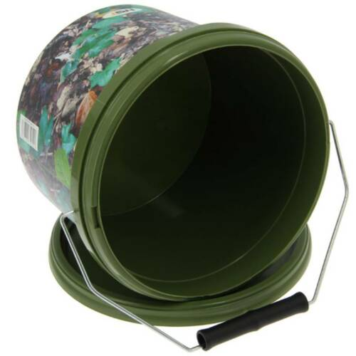 4 X ROUND 2.5L CAMO BAIT BUCKETS FOR BOILIES PELLETS NGT CARP FISHING TACKLE
