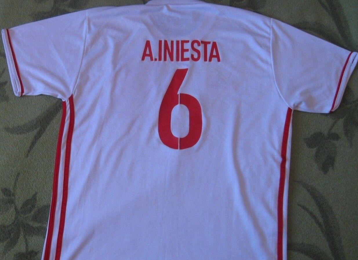 Camiseta Shirt Maglia Trikot Maillot Adidas ESPAÑA Spain Away 6 INIESTA 2015